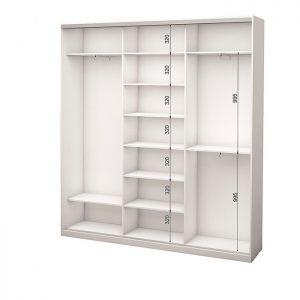 Белый 3-х дверный 1800 450 №3